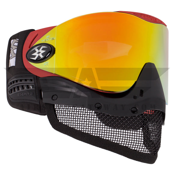 Tippmann Tactical Empire E-Mesh Airsoft Goggle System - Red - Thermal Mirror Fire