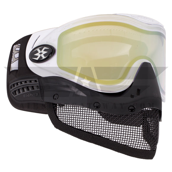 Tippmann Tactical Empire E-Mesh Airsoft Goggle System - White - Thermal Mirror Gold
