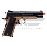 Elite Force 1911 TAC CO2 Airsoft Pistol – Black/Dark Earth Brown - airsoftgateway.com