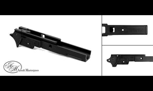 Airsoft Masterpiece Aluminum Frame - Infinify Marking 3.9 inch with Tactical Rail BLACK - airsoftgateway.com