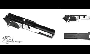 Airsoft Masterpiece Aluminum Frame - 2011 3.9 inch with Tactical Rail - 2Tone Black/Silver - airsoftgateway.com