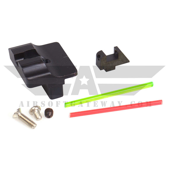 Airsoft Masterpiece Steel Fiber Optic Sights for G17 - airsoftgateway.com