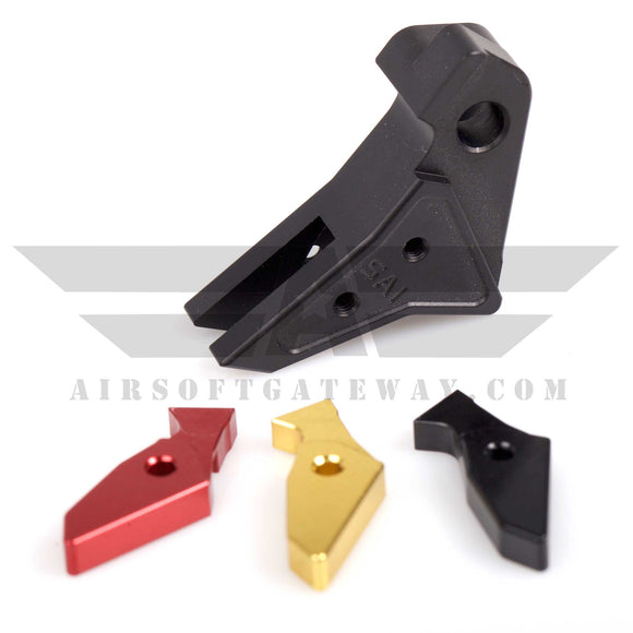 Guns Modify Flat Aluminum Adjustable Trigger - Black - airsoftgateway.com