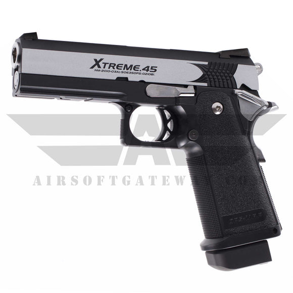 Tokyo Marui Hi-Capa Extreme 45 Full Auto Gas Blowback Airsoft Pistol - Silver/Black(Only Full Auto) - airsoftgateway.com