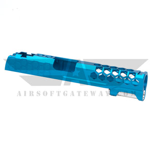 Airsoft MasterPiece Hive Slide for Tokyo Marui Hi-Capa 5.1 - Blue - airsoftgateway.com