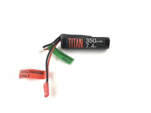 Titan Power 7.4v Lithium Ion Airsoft HPA Type - JST Connector - 350mah - airsoftgateway.com