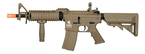 Lancer Tactical LT-02CT-G2 MK18 Nylon Polymer MOD 0 AEG Airsoft Rifle - Tan - airsoftgateway.com