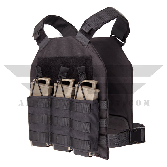 Lancer Tactical Minimalist Recon Vest Plus Pouches Combo MRV Black -Z18 - airsoftgateway.com