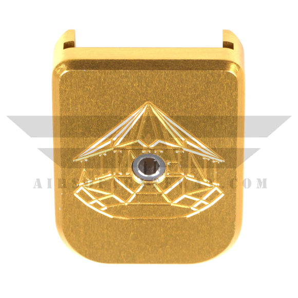 Airsoft Masterpiece Aluminum Magazine Base - SV Infinity Diamond- Gold - airsoftgateway.com