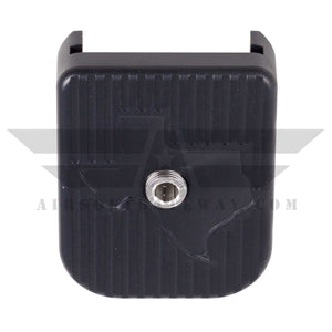 Airsoft Masterpiece STI Aluminum Magazine Base For Marui 5.1 - Black - airsoftgateway.com