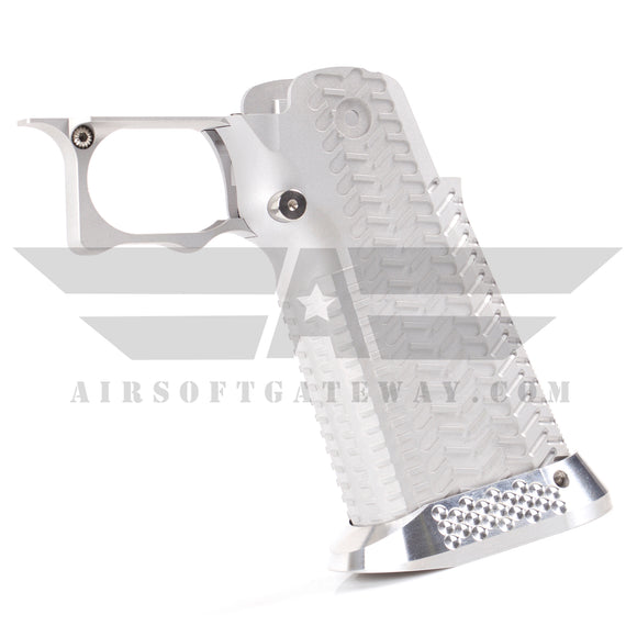 Airsoft Masterpiece Aluminum Grip - Type 11 - CK - Silver - airsoftgateway.com