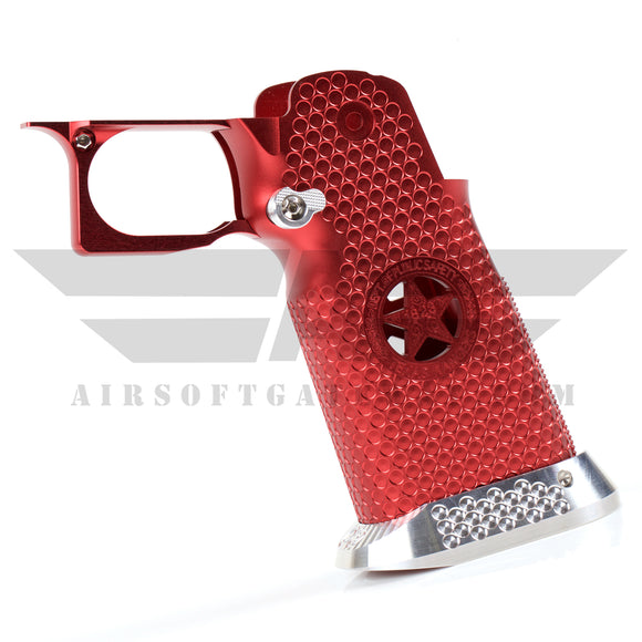 Airsoft Masterpiece Aluminum Grip - Type 5 - Infinity Texas Rangers - Red - airsoftgateway.com
