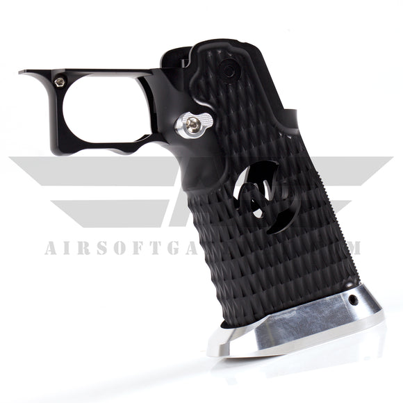 Airsoft Masterpiece Aluminum Grip - Type 8 - Infinity Diamond - BLACK - airsoftgateway.com