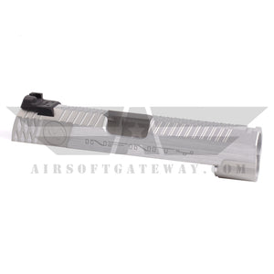 Airsoft Masterpiece Infinity logo 4.3 Slide with Rear Sight - Silver - airsoftgateway.com