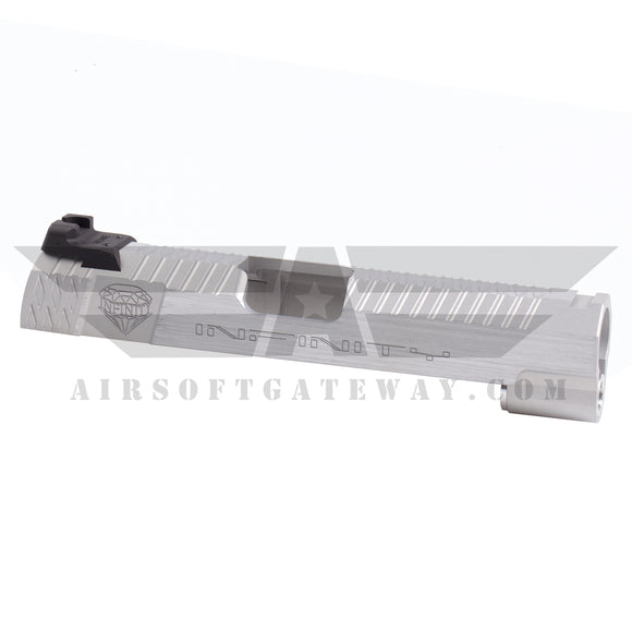 Airsoft Masterpiece Infinity Diamond 4.3 Slide with rear sight - Silver - airsoftgateway.com