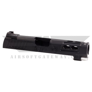 Airsoft Masterpiece STI DVC Steel 4.3 Slide with Rear Sight - Black - airsoftgateway.com
