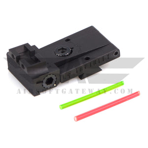 Airsoft Masterpiece Aluminum Infinity Rear Sight with Fiber Optic Rods for Tokyo Marui Hi-Capa 5.1 - airsoftgateway.com