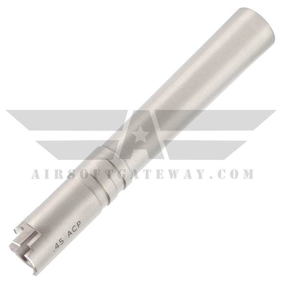 Airsoft Masterpiece .45 ACP Steel Outer Barrel for Hi-Capa 5.1 - Silver - airsoftgateway.com