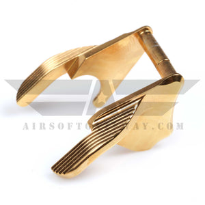 Airsoft Masterpiece STEEL Thumb Safeties - Type 1 STI style Gold - airsoftgateway.com