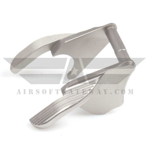 Airsoft Masterpiece STEEL Thumb Safeties - Type 1 STI Style Matt Silver - airsoftgateway.com