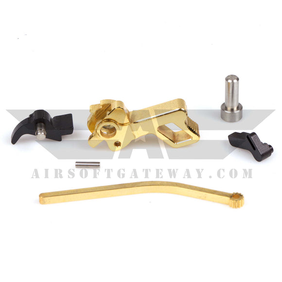 Airsoft Masterpiece STI Square CNC Steel Hammer & Sear Set for TM Hi-Capa Gold - airsoftgateway.com