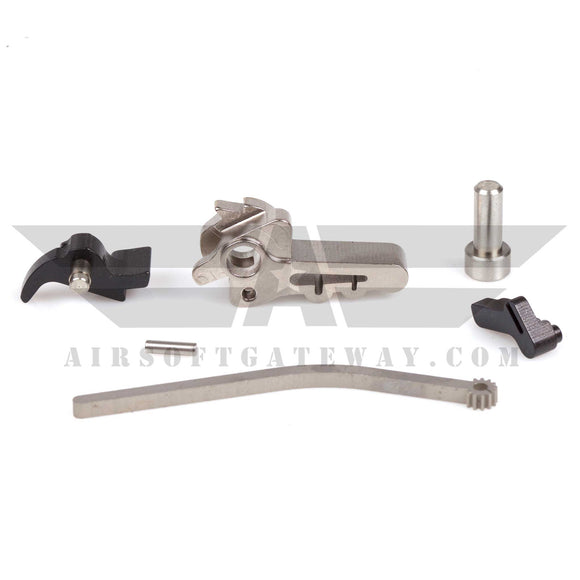 Airsoft Masterpiece Infinity QB CNC Steel Hammer & Sear Set for TM Hi-Capa Silver - airsoftgateway.com