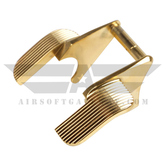 Airsoft Masterpiece STEEL Thumb Safeties - Type 4 - Gold - airsoftgateway.com