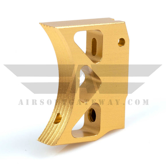 Airsoft Masterpiece Aluminum Triangle Trigger - Type 3 - Gold - airsoftgateway.com