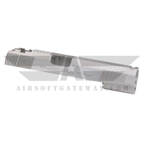 Gunsmith Bros AR2328 Infinity Texas Slide For Hi-Capa 5.1 - SILVER - airsoftgateway.com