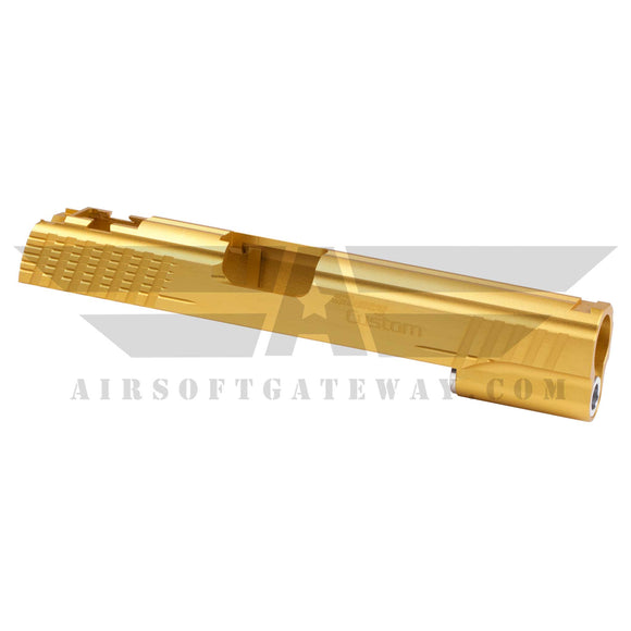 Gunsmith Bros AR2067 Shuey Custom Slide For Hi-Capa 5.1 - Gold - airsoftgateway.com