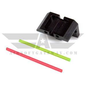 Gunsmith Bros AR1867 Fiber Rear Sight Assemble Only - Green/Red Fiber - airsoftgateway.com