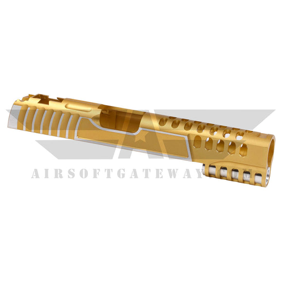 Airsoft Masterpiece Custom V12 Standard Slide - 2tone Gold/Silver - airsoftgateway.com