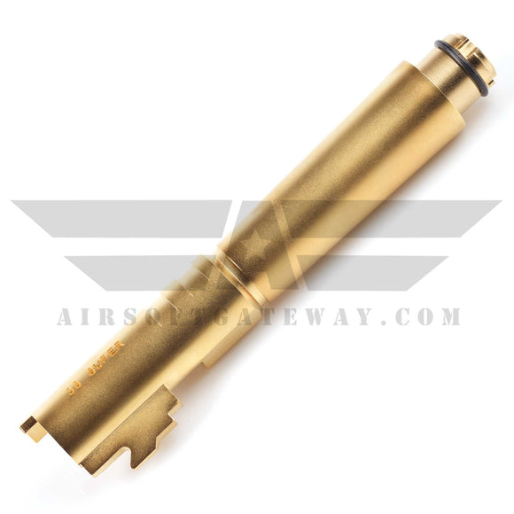 Airsoft Masterpiece Stainless Steel Outer Barrel for Comp 5.1 Hi-Capa - Gold - airsoftgateway.com