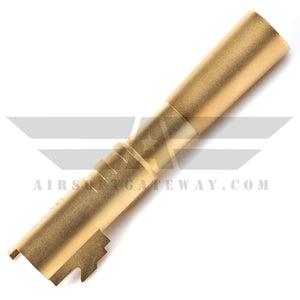 Airsoft Masterpiece Stainless Steel Outer Barrel for Comp 4.3 - Gold - airsoftgateway.com