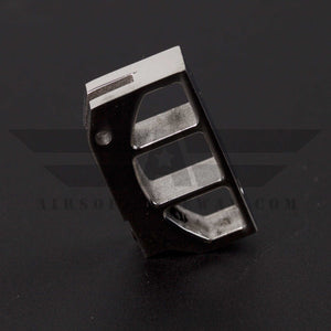 UAC Stainless Steel Trigger for Tokyo Marui Hi-Capa 5.1/4.3 - Type C - Silver - airsoftgateway.com