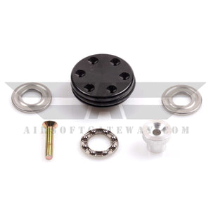 ASG Vented Aluminium Piston Heads - Black - airsoftgateway.com