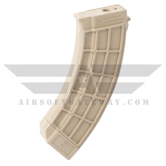 PTS US PALM AK47/AK30 150rd Mid-Cap Airsoft AEG Rifle Magazine - Tan