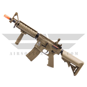 Lancer Tactical LT-02CT M4 CQBR Metal Gear AEG Airsoft Rifle with Adjustable Stock - Tan - airsoftgateway.com