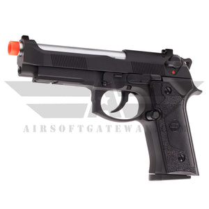 ASG Full METAL Tactical M9 Gas BlowBack Pistol Weaver Rail - Black/Silver - airsoftgateway.com