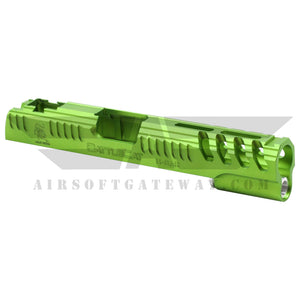 Airsoft MasterPiece Limcat Slide for Tokyo Marui Hi-Capa 5.1 - Lime Green - airsoftgateway.com