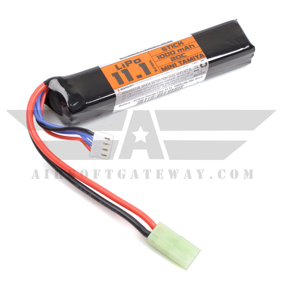 Valken Energy Battery LiPo 11.1v 1000mAh 20C Stick Battery - Mini Tamiya -AH7