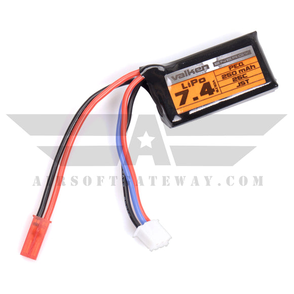 Valken Energy Battery LiPo 7.4v 250mAh 25C Battery PEQ - Polarstar -AF7
