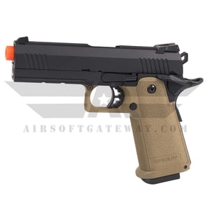 Jag Arms GM4 Hi-Capa 4.3 Gas Blowback Pistol 2-Tone Black/Tan - airsoftgateway.com