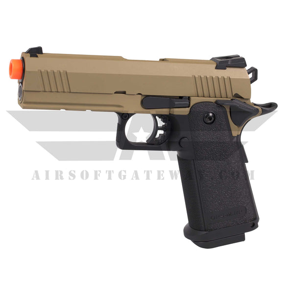 Jag Arms GM4 Hi-Capa 4.3 Gas Blowback Pistol 2-Tone Tan Slide Black Grip - airsoftgateway.com