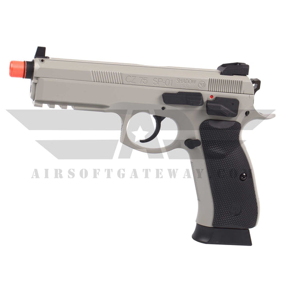 ASG CZ75 SP-01 Shadow Gas Blowback Airsoft Pistol - Grey - airsoftgateway.com