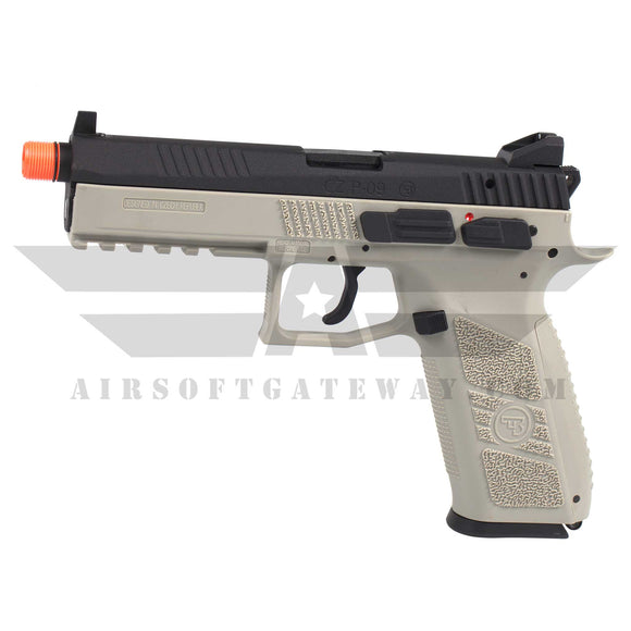 ASG CZ P-09 Licensed Airsoft GBB Gas Blowback Full Metal Pistol - Urban Grey/Black - airsoftgateway.com