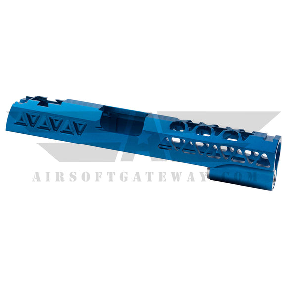 Airsoft Masterpiece Aluminum Triangles Slide for Tokyo Marui / Hi-Capa - Blue -Z8 - airsoftgateway.com
