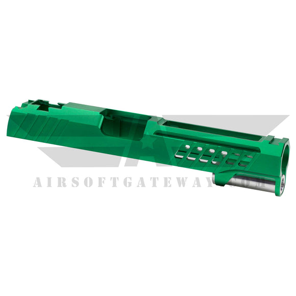"AIRSOFT MASTERPIECE CUSTOM ""YORK"" SLIDE FOR TOKYO MARUI / HI-CAPA - Clover Green -X16 - airsoftgateway.com"
