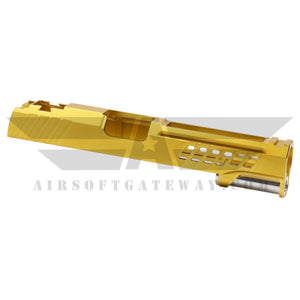"AIRSOFT MASTERPIECE CUSTOM ""YORK"" SLIDE FOR TOKYO MARUI / HI-CAPA - Gold -X16 - airsoftgateway.com"