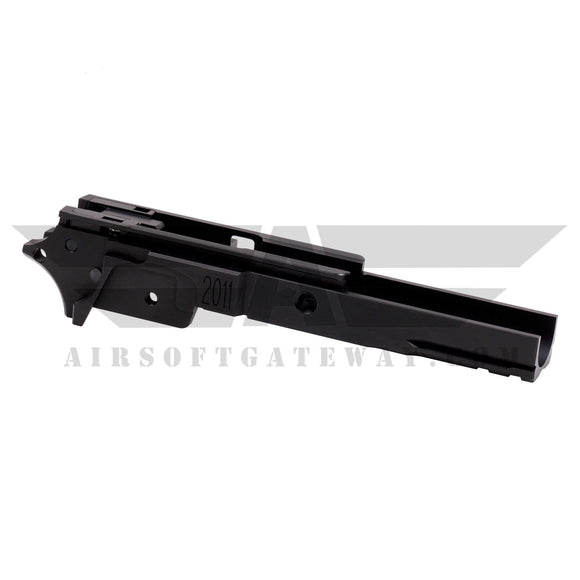 Airsoft Masterpiece Aluminum Frame - 2011 3.9 inch with Tactical Rail BLACK - airsoftgateway.com
